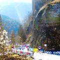 """Blick auf die """"Cascata"""", den 3 km langen Schlussanstieg"""