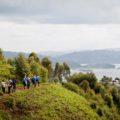 Wanderetappen führen Sie u.a. zu entlegenen Seen, hier zum Lake Mutanda