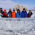 Glückliche Teilnehmer der Baikal-Expedition 2017