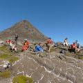 Rast vor dem Gipfelaufstieg zum Pico