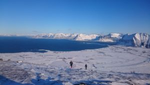 Winterwanderung am Nordmeer
