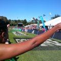 Ausgelassene Stimmung – nicht nur im Ziel des Two Oceans Marathon, sondern auch auf der gesamten Strecke!