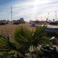 In den Pausen  lädt der Strand zum Sonnenbad ein