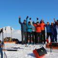 Zwei dufte Guides (aus Deutschland und von den Lofoten) und eine Gruppe, die zur richtigen Zeit am richtigen Ort war :-).