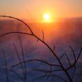 Herrliche Farbspiele bei tiefstehender Sonne