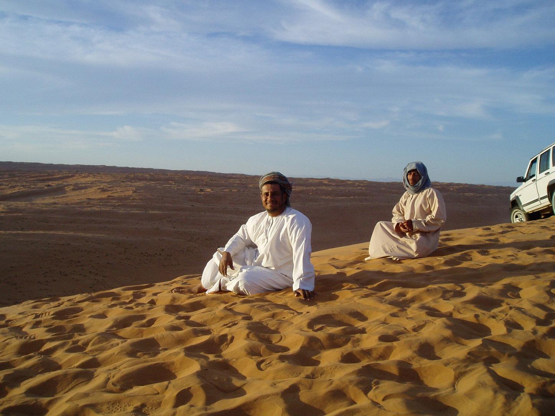Beduinen in der Wahiba Wüste