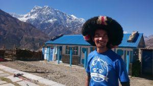 Guide Gelu P. Sherpa: kennt die Region wie seine Westentasche und war als Träger und Guide bereits mehrmals am bzw. auf dem Mt. Everest unterwegs (Foto vom ACTR 2016)
