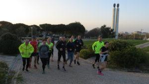Morgenlauf zum Park Eduardo VII
