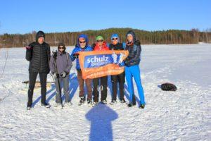 Schnupperkurs im Eisangeln: im März 2017 auf dem zugefrorenen Jäätiönlampi-See