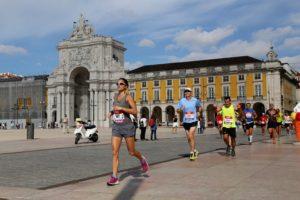Der Handelsplatz: Ziel von Marathon und Halbmarathon
