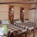 In Hütten des Besucherzentrums im Sailugem-Nationalpark
