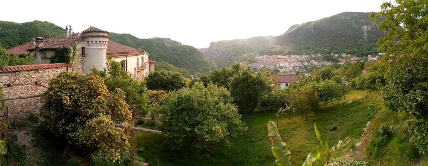 Im Garten des Palazzo Gallotti