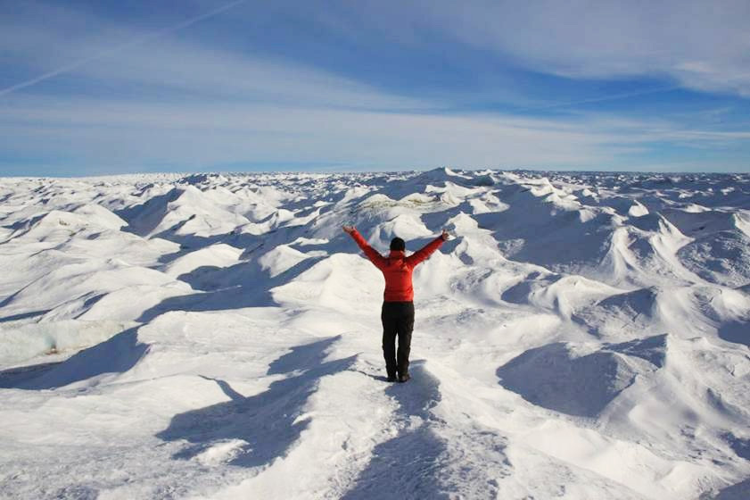 Unendlich ... klein fühlt man sich am Rande des grönländischen Eisschildes