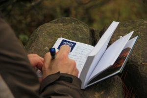 Eintragung ins Gipfelbuch