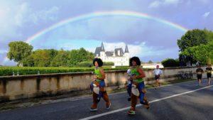 Laufen unterm Regenbogen!