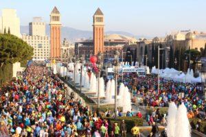 Über 15.000 Teilnehmer auf der Placa Espanya