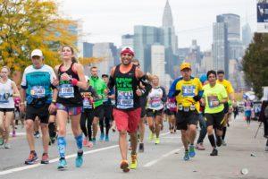 Der New York City Marathon führt die Läufer durch fünf Stadtteile des Big Apple