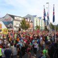Volksfeststimmung rund um den Start-/Zielbereich
