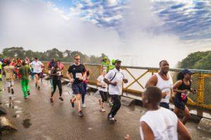 Laufen auf der Livingstone-Brücke