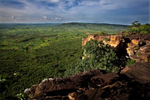 Blick über das Atakora-Plateau im Norden Togos