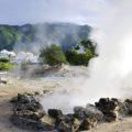 In Furnas äußert sich der vulkanische Ursprung durch faszinierende Fumarloen