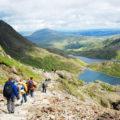Bergsteigerfeeling kommt bei der optionalen Besteigung des Mt. Snowdon, Wales höchster Erhebung, auf.