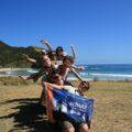 Gut gelaunte Teilnehmer auf unserer Gruppenreise in Neuseeland