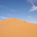Goldfarbene Dünen und blauer Himmer - ein (Sahara-)Traum