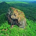 Vom Sigiriya-Felsen haben Sie einen atemberaubenden Panoramablick