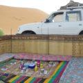 Essensplatz im Zeltcamp in der Sahara