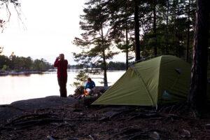 Campen mitten in der Natur